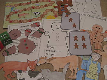 The Gingerbread Man story resource pack- games, worksheets, activities