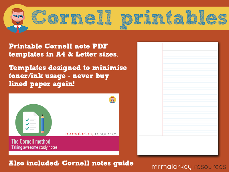 Cornell Notes Printable Templates Guide By Mrmalarkey Teaching