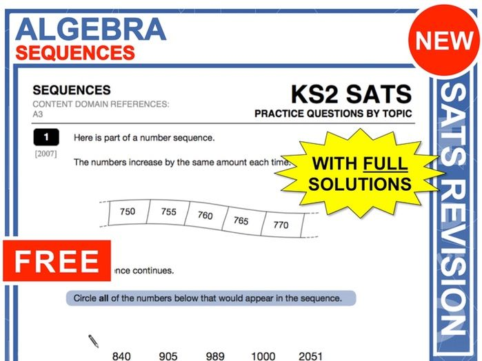 KS2 Maths (Sequences)