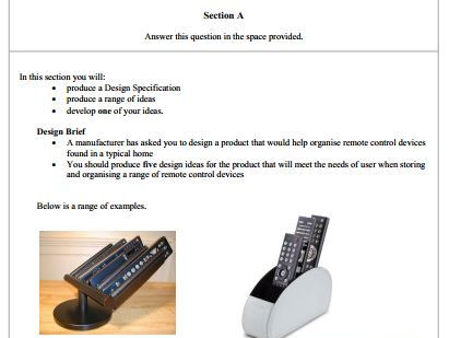 AQA Resistant materials revision - section A mock papers