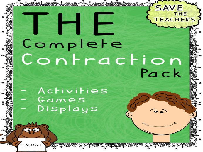 Contractions Worksheets and Activities