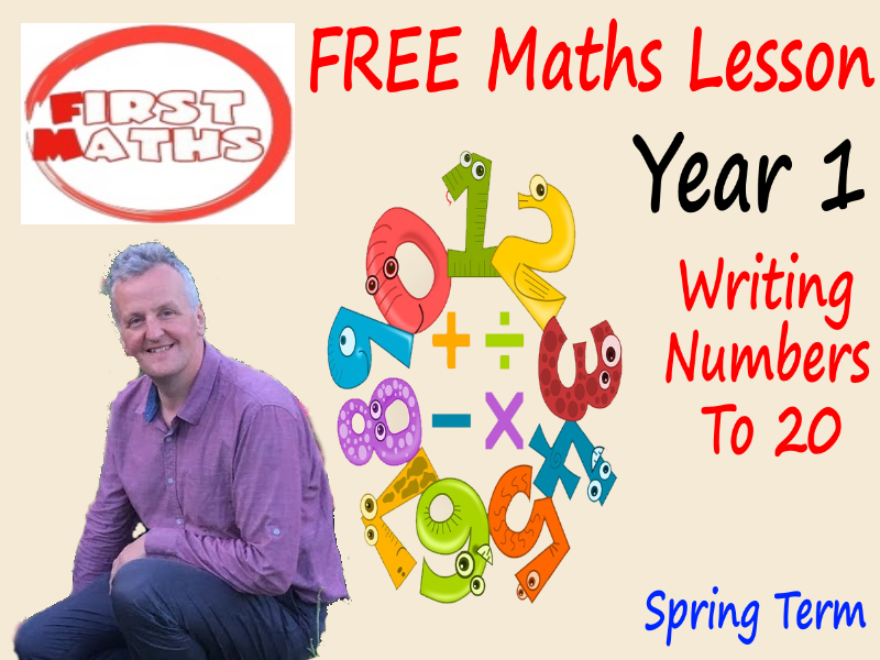 Writing  numbers to 20 YouTube PowerPoint Lesson - FREE Year 1 Maths - Spring Term
