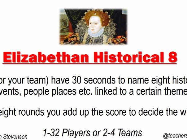 Elizabethan Revision Game - Historical Eight