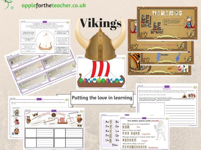 Vikings bundle of resources KS2