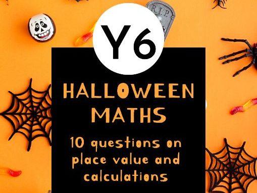 Halloween Maths- Year 6 number