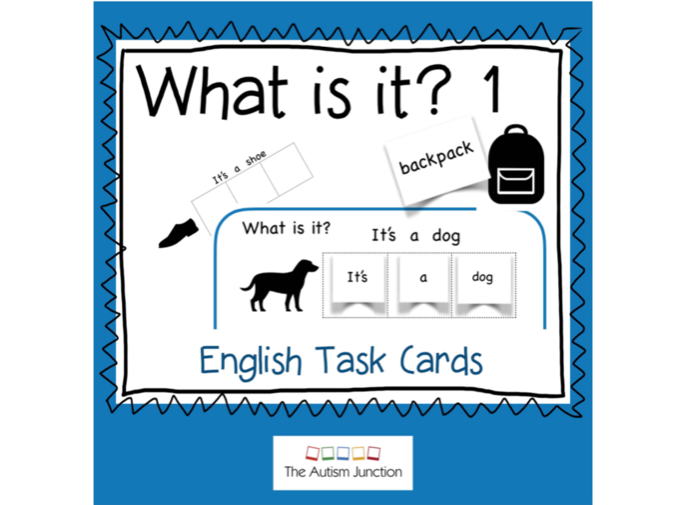 What is it? 1.  Task Cards to label nouns