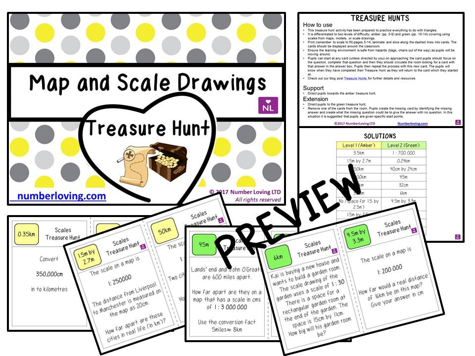 Using Scales (Treasure Hunt)