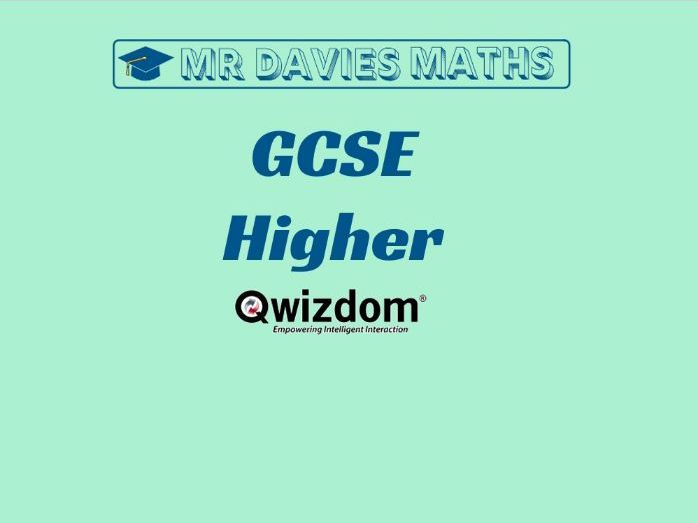 HIGHER Ultimate Revision QUIZ Maths GCSE 250 Questions!!! QUIZDOM 2019