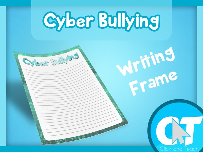 Cyber Bullying - Writing Frame Page Border