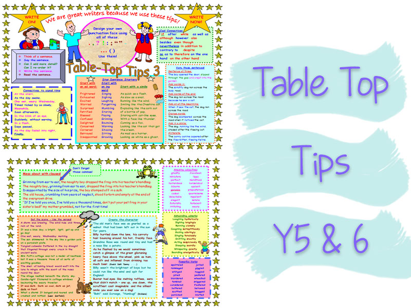 Double Sided Y5 & Y6 Table Top Tips Mat