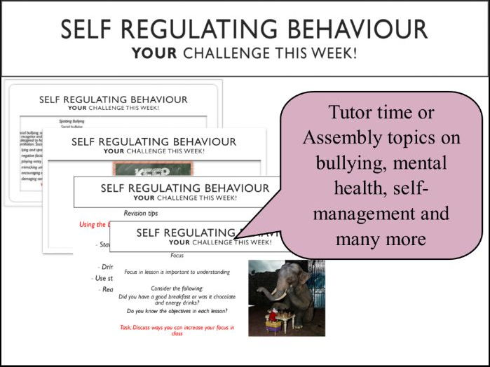 One year of Tutor Time tasks on Self Regulating Behaviour, SMSC, Anti-bullying and more