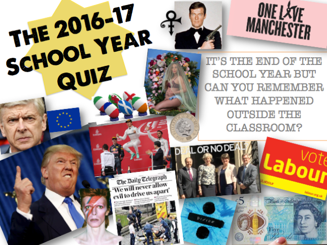 End of Year Quiz - Summer 2017
