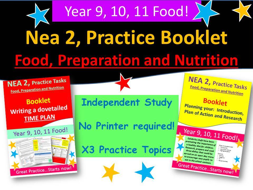 Nea 2, Food,  x3 Independent Booklets