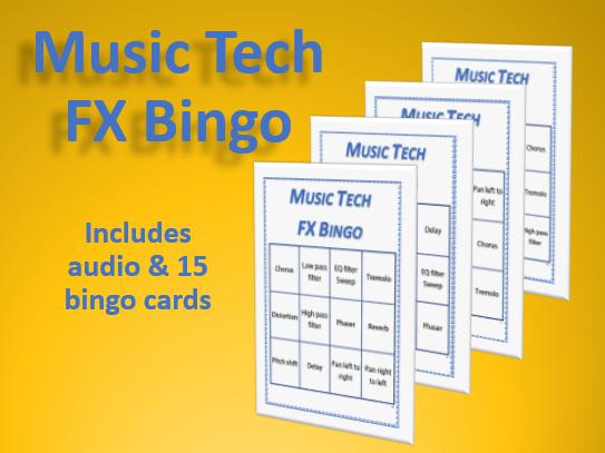 Music Tech FX Bingo