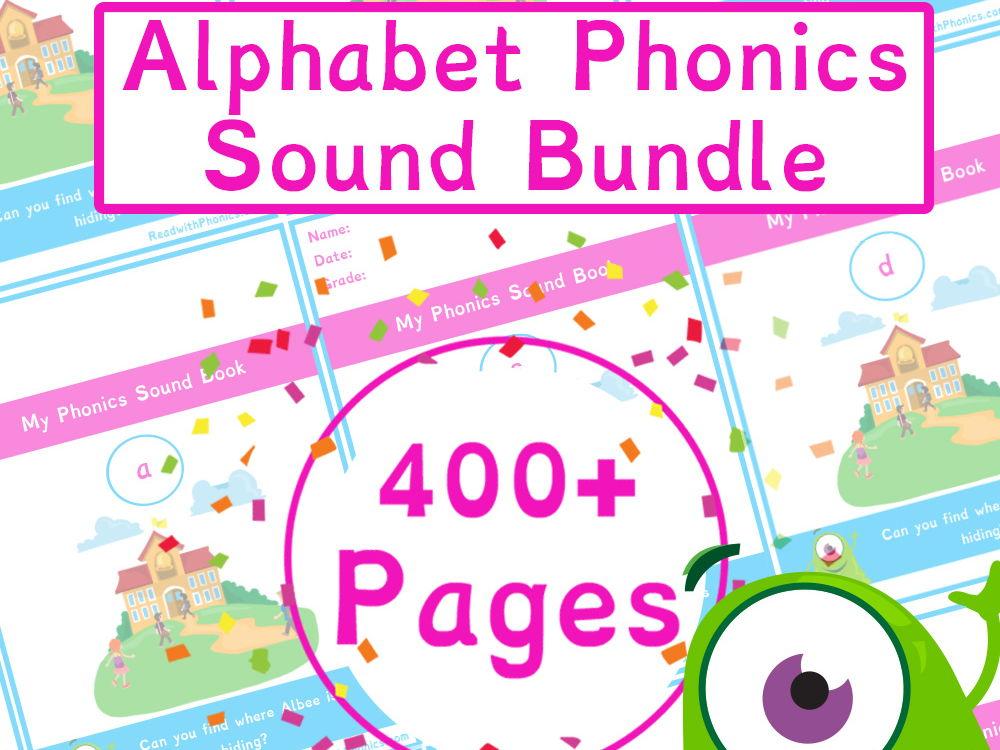 Alphabet Simple Phonics Sounds 400+ Pages | Phonics Resource Bundle | Read with Phonics