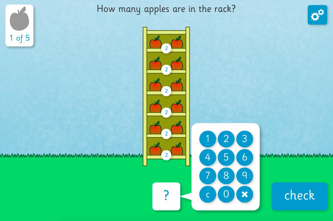 Apple Multiplier Interactive Activity - KS2 Number