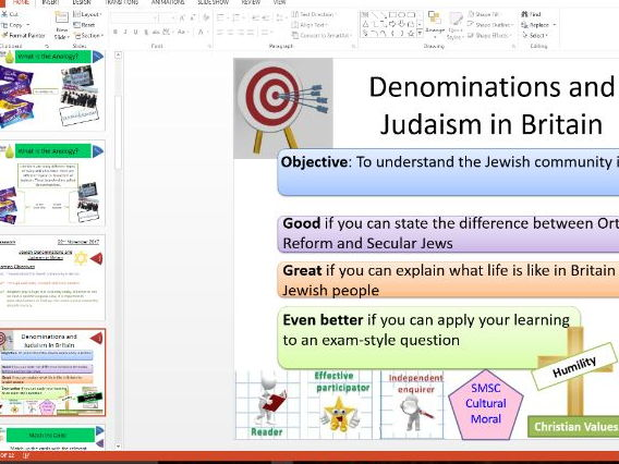 Eduqas: Study of Judaism: Denominations and Judaism in Britain: Whole Lesson