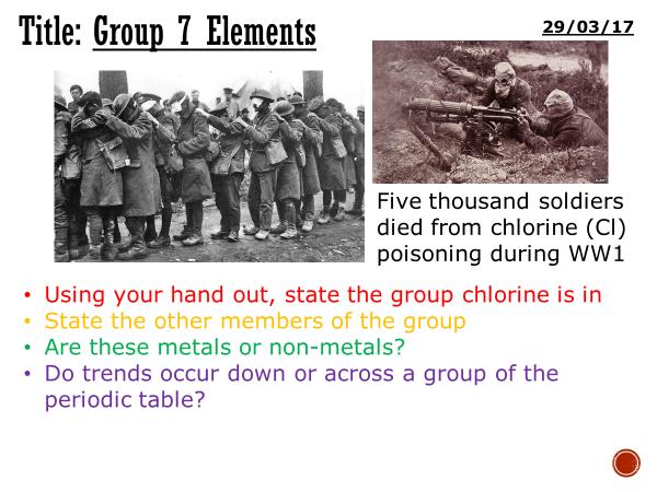 Group 7 elements - complete lesson (KS3)