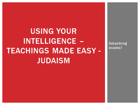 Simple teachings for GCSE RS ethics-based Themes - Judaism