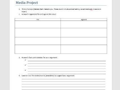 Project homework