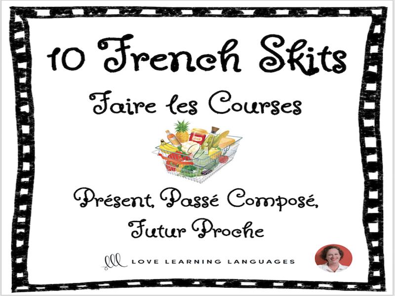 10 French skits - Mini dialogues en français