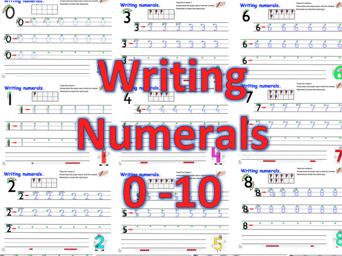 Writing Numerals 0-10
