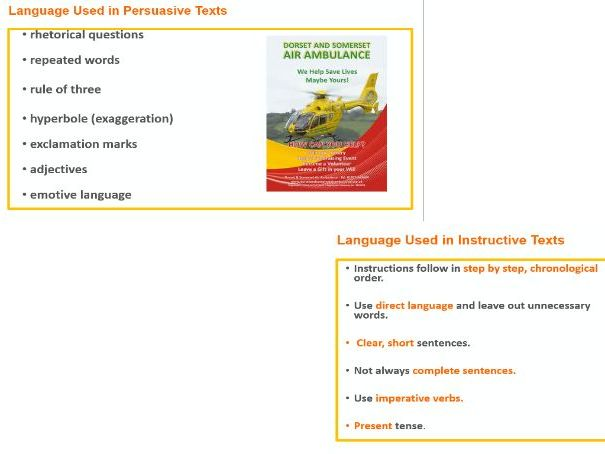 Language Devices Non Fiction Texts