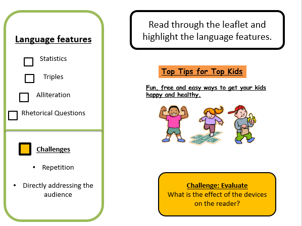 Leaflets (3 OUTSTANDING lessons)