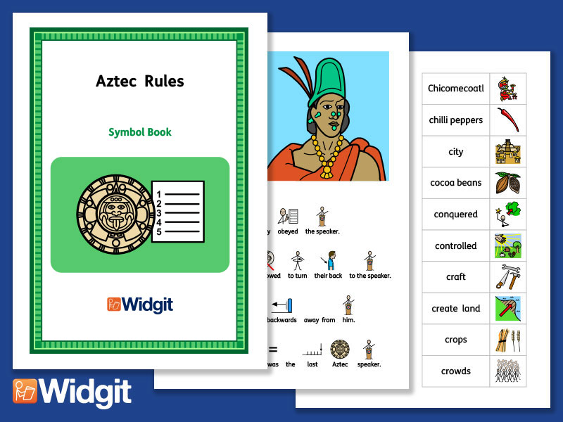 Aztec Rules - History Book and Activities with Widgit Symbols