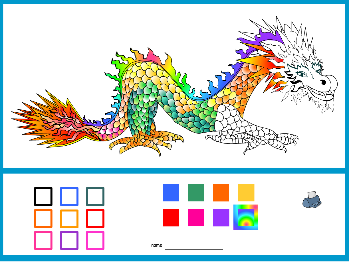 Colouring-in Chinese New Year Dragon - Interactive Activity - Chinese New Year KS1/KS2