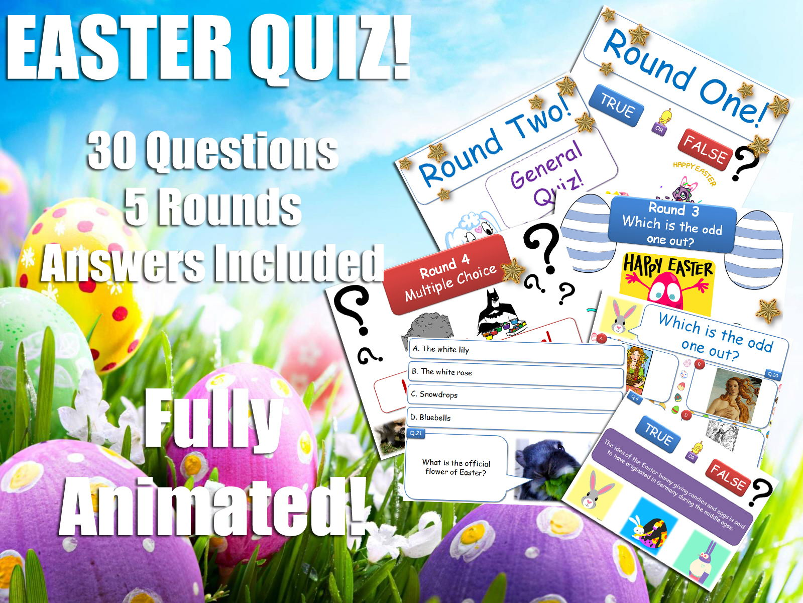 Form Tutor - Easter Quiz Bundle! [Form Time Activities!] P4C & Philosophy - Debates - Activities - Discussions - SMSC! [Special Debate Pack!]