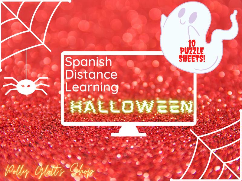 Spanish Halloween Puzzles