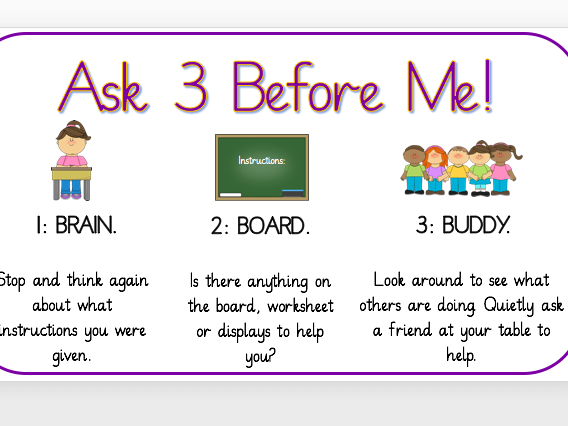 Ask 3 Before Me Display