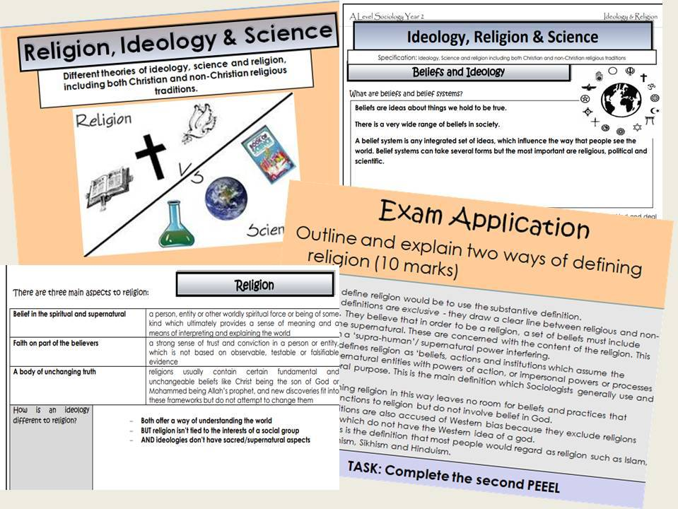 AQA Sociology - Year 2 - Beliefs in Society - Ideology, Religion & Science - Complete section