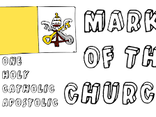 (5.8) The four marks of the Church and apostolic succession-34 slides to aid pages 130 & 131.