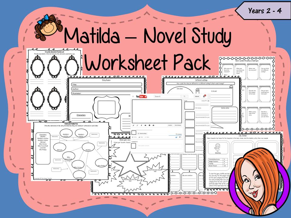 Matilda Book Study Worksheet Pack By Thegingerteacher Teaching