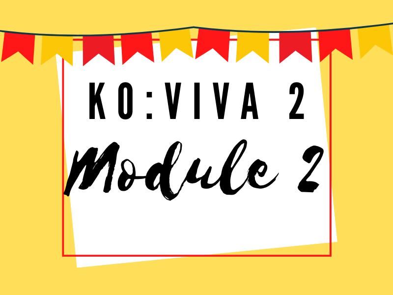 Viva 2: Module 2 Knowledge Organiser