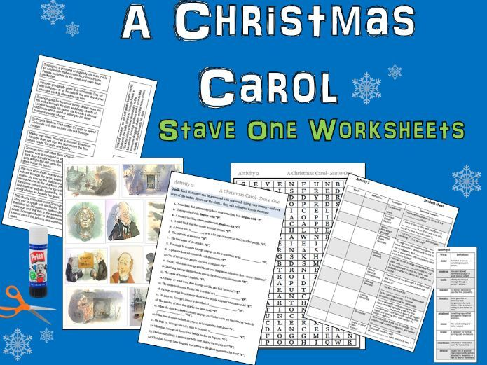 A Christmas Carol: Stave One activity sheets and powerpoint