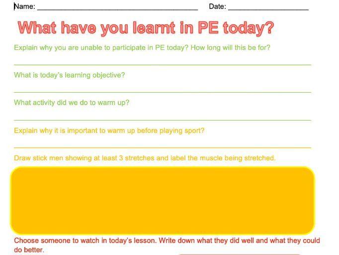 PE Non-Doers Coaching Sheet