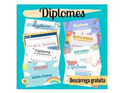 Diplomes per la bona feina. Catalan praise certificates/awards for great work.