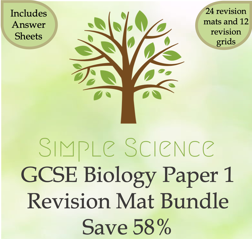 Home Learning - AQA GCSE Combined Science Biology Revision Mat Bundle Paper 1