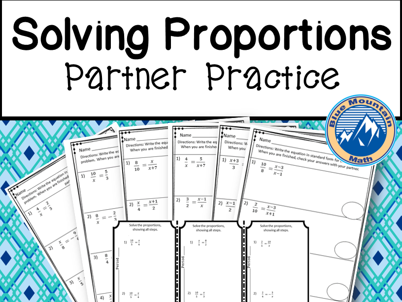 Solving Proportions Partner Practice