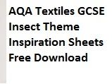 Insect Theme 2018 AQA GCSE Textiles Design Inspiration Sheets - Free Download