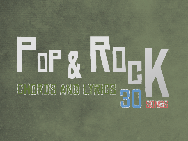 Pop & Rock [30 SONGS] Lead Sheets