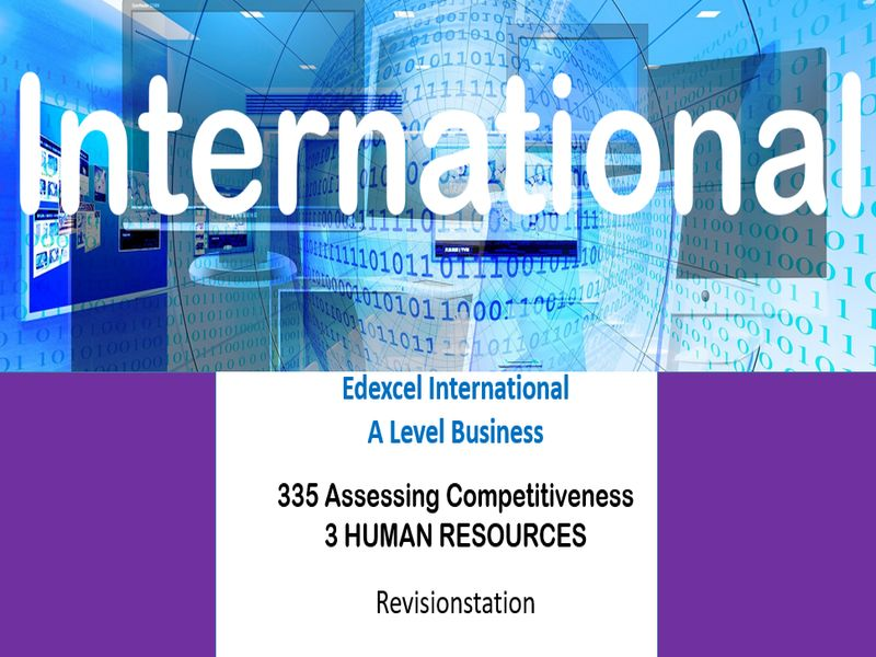 Pearson Edexcel International A Level Business (335) 3 Human resources