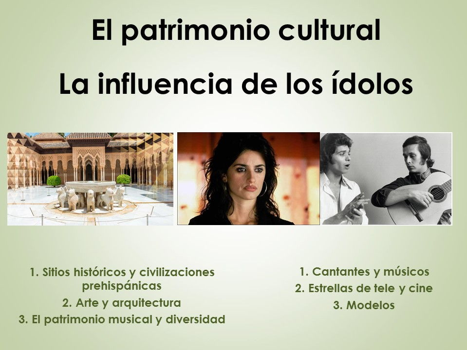 AQA New AS/A Level Spanish La influencia de los ídolos y El patrimonio cultural