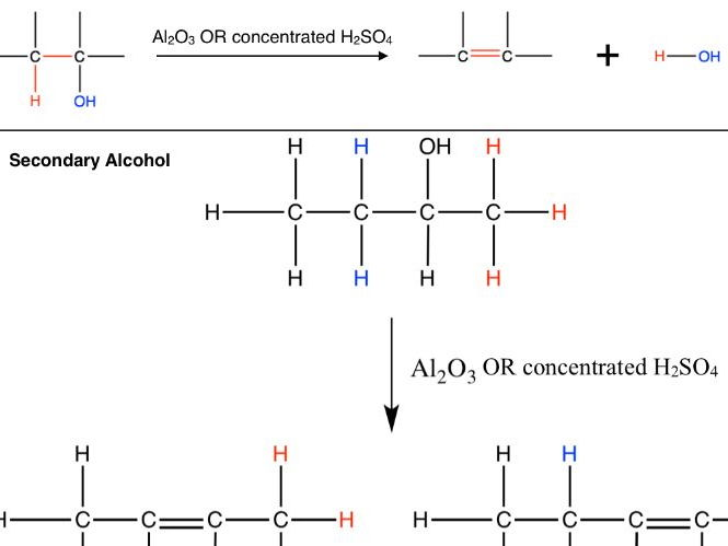 Dehydration of Alcohol and Esterification Colour-coded Diagrams and Questions
