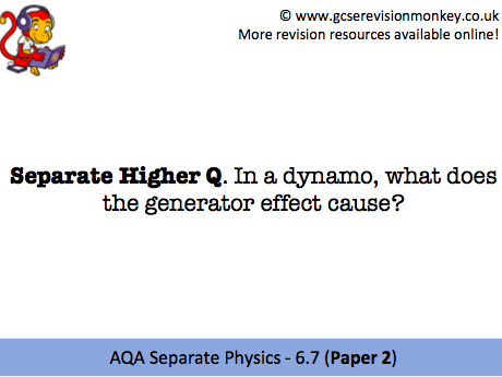 Revision Cards - AQA Separate Physics 6.7