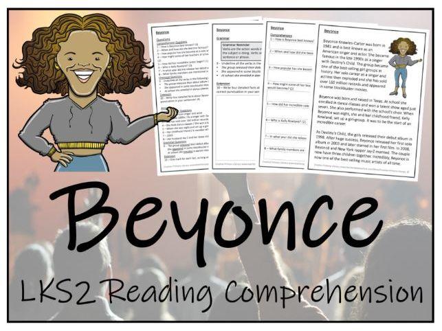 LKS2 Beyonce Reading Comprehension Activity