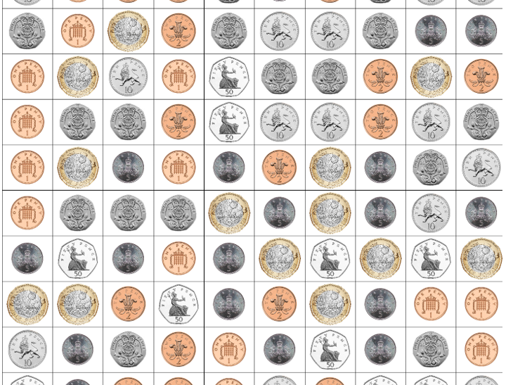 Coins search